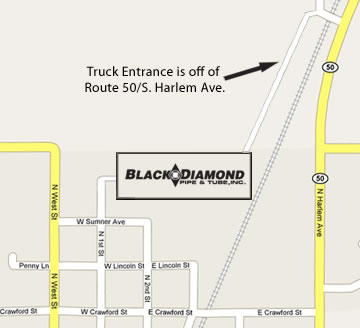 Black Diamond Truck Entrance
